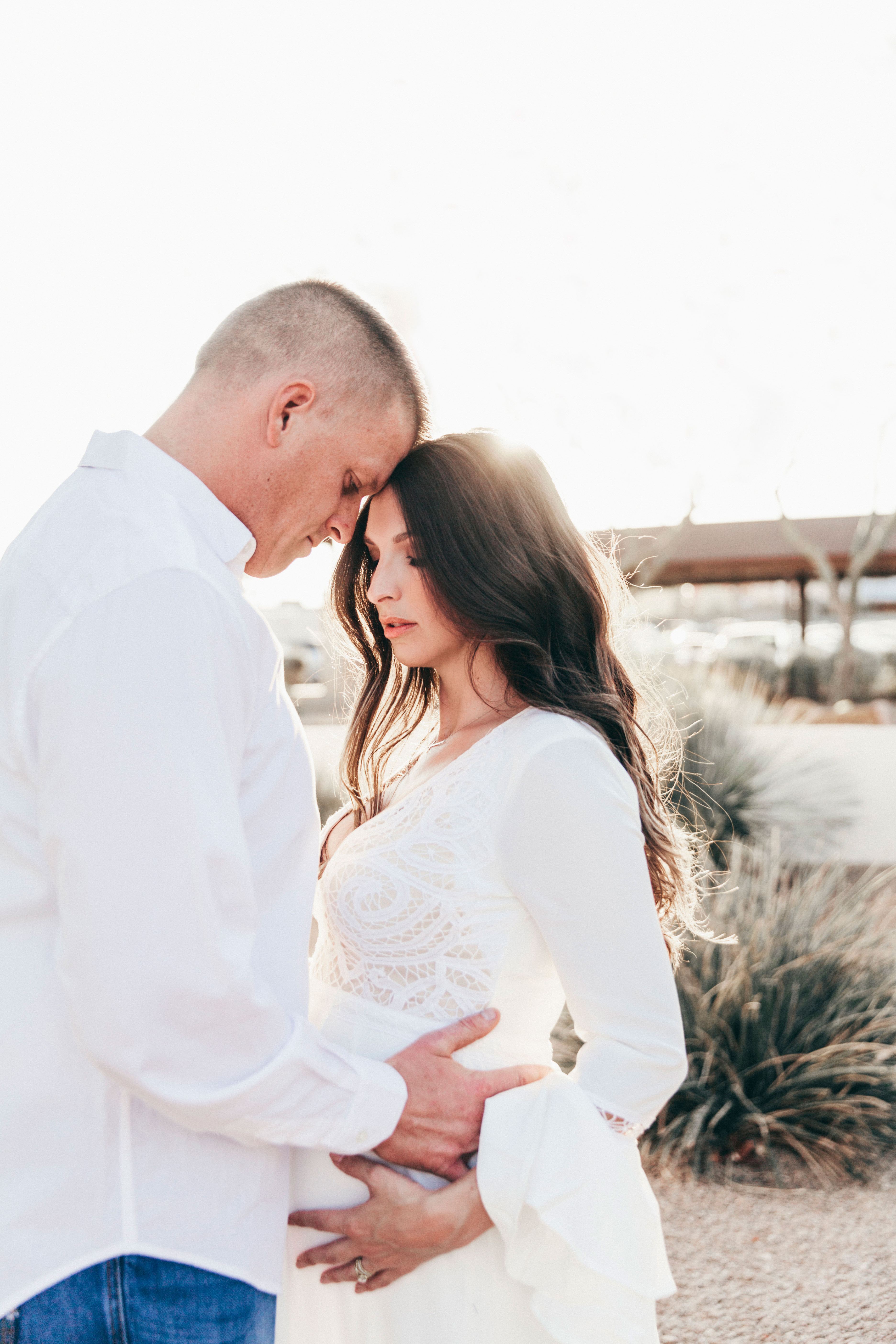 Beautiful Couple Maternity Session at Old Town Mission Scottsdale with Kate Nelle Photography
